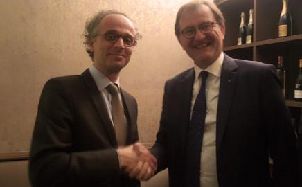 M. le consul du Canada, Me Jean-Baptiste Le Jariel, et M. Olivier de Roquetaillade, Président du Cercle